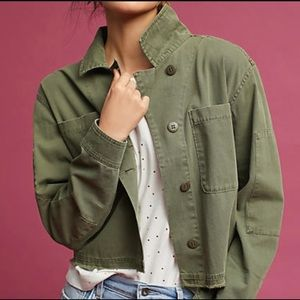 NWT ANTHRO SANCTUARY CROP MILITARY JACKET
